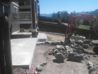 Leveling of backyard